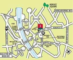 City hotel Budapest - map - Hotel Ibis Emke - 3 Sterne Zentrum Hotel Ibis Budapest EMKE