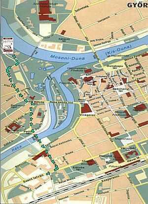 Gyor - Mapa -  city centre hotel in Gyor