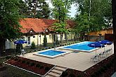 Outdoor pool at Hotel Korona in Siofok - air conditioned rooms
