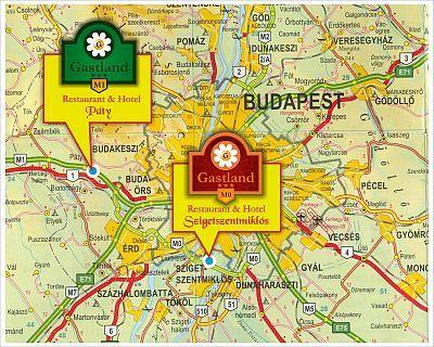 magyarország térkép páty Paty   Gastland hotel M1   Map   Hotel Gastland M1 Paty 3  magyarország térkép páty