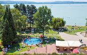 Panoramic view from the superior rooms - Hotel Club Tihany - 4-star hotel directly on the shore