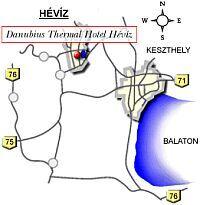 Heviz - Karte - Thermal Kurzentrum am Thermalsee
