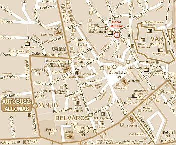 eger utca térkép Térkép   Eger   Park Hotel Minaret Eger 3*   AKCIÓS Minaret Hotel  eger utca térkép