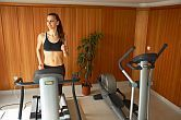 Fitnessroom of Zenit Hotel in Vonyarcvashegy with panoramic view of Lake Balaton