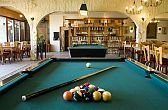 Pub with billiard room in 4* Wellness Hotel Silvanus in Visegrad