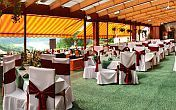Hotel Silvanus restaurant with panoramic view of the Danube