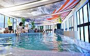 Indoor swimming pool of Oxigen Zen Spa Hotel in Noszvaj for a wellness weekend