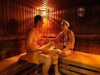 Finnish sauna of Hunguest Hotel Helios in Heviz with wellness packages