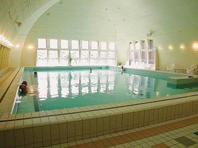 Thermal pool of Hotel Helios in Heviz with discount packages including half board