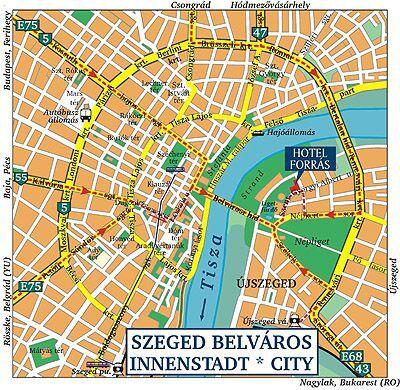 szeged térkép Forrás Hotel Szeged   Térkép – Hotel Forrás**** Szeged   Akciós