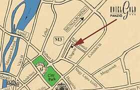 Pension Gold Budapest - Map - Zuglo Budapest