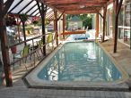 Outdoor pool with thermal water in Hotel Hajnal Mezokovesd