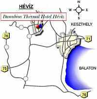 Danubius Thermal hotell Heviz - Heviz Map