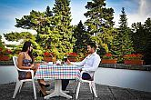 Terrace in Hotel Lover - Hotel Lover in Sopron surrounded by forest